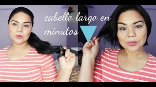 cabello largo en minutos