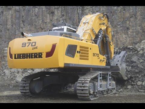 Liebherr R 970 SME Hochlöffel Bagger belädt Doosan DA 40 Dumper I Steinexpo 2014