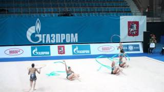 "Russia 3 ribbons 2 hoops GP Moscow ""Гран При"" 2011"