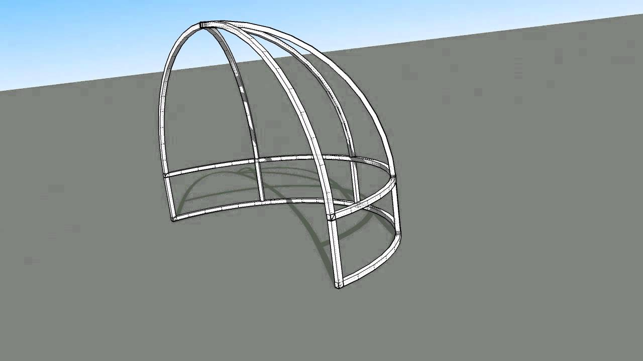 Dome Awning Frame With Truss Youtube