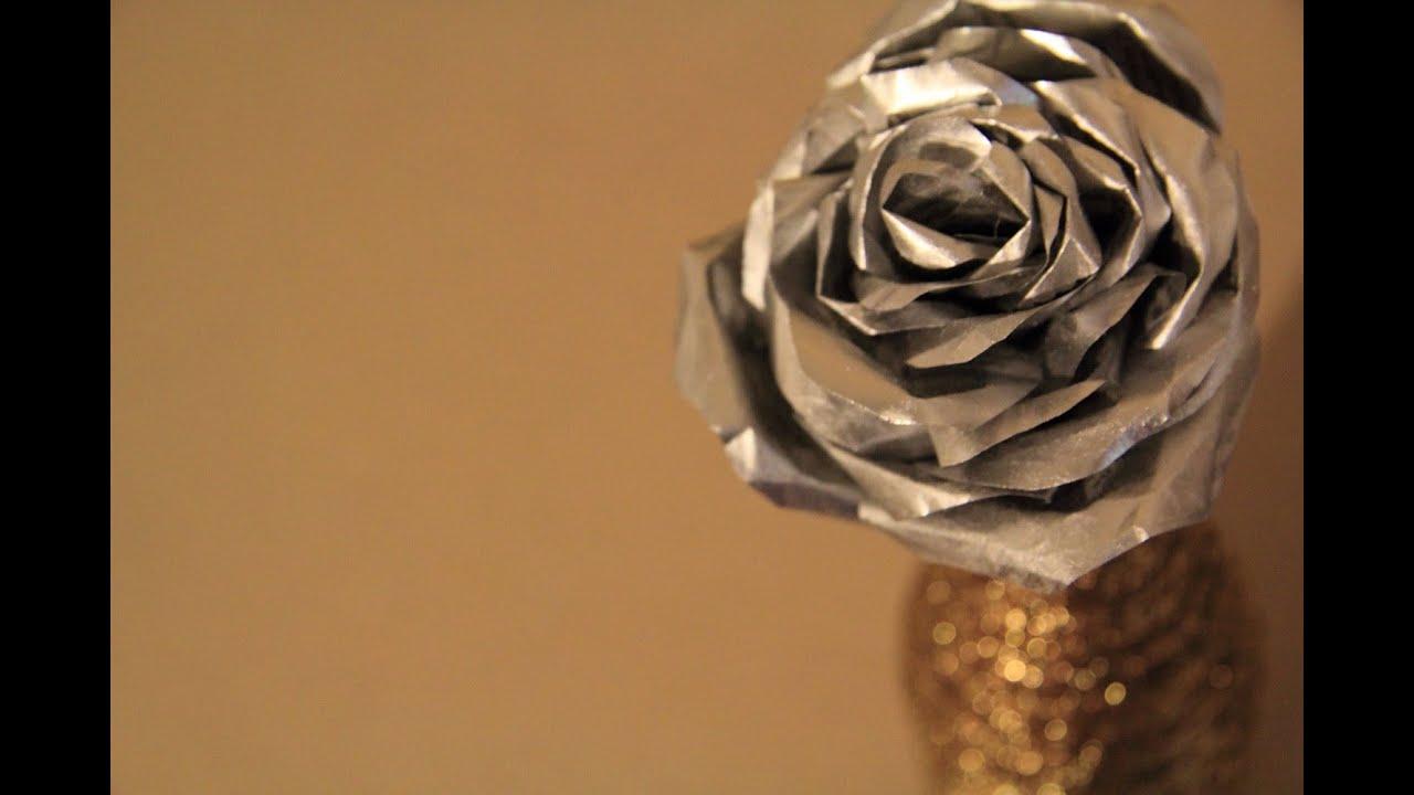 Цветы из фольги поэтапно