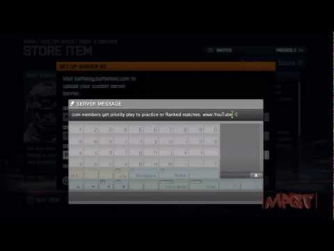 Renting BF3 Server on the PS3 console & initial setup (MPGT.com)