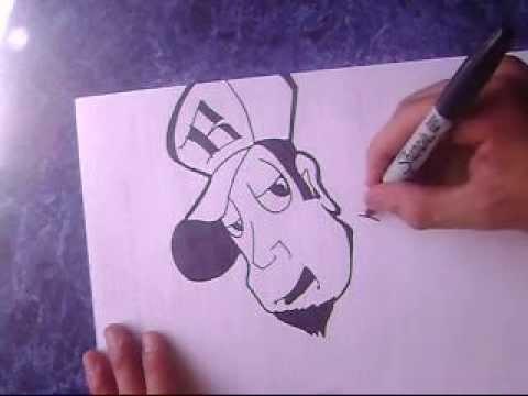 Como dibujar un graffiti caracter por besok - YouTube