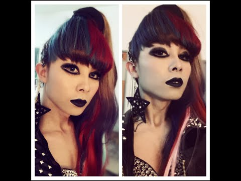 A boy to girl Transformation Punk Revolutioan makeup