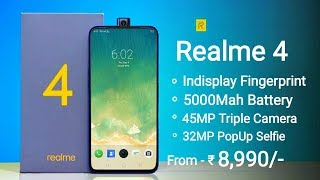 Realme 4 - Box & First Look, 45MP Camera, 5G, Indisplay Fingerprint, 32MP PopUp Selfie, Launch Date