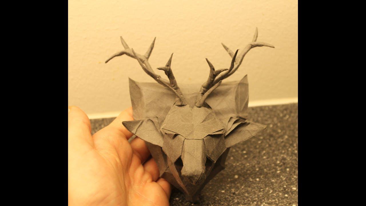 Как сделать голову оленя оригами
