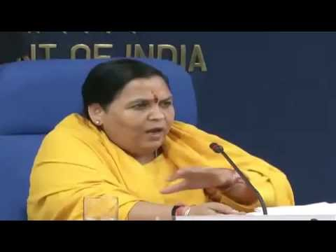 Press Conference by Sushri Uma Bharti on the completion of one year of the Union Govt.