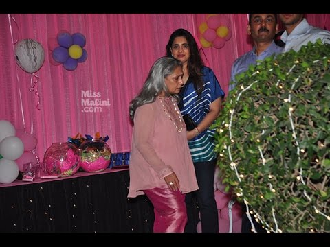 Jaya Bachchan dresses up almost like a clown at Aaradhya Bachchan's birthday party