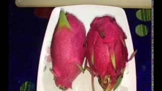 How to cut Dragon fruit easily(Bengali)Faria Anjum Nusraat Samantha