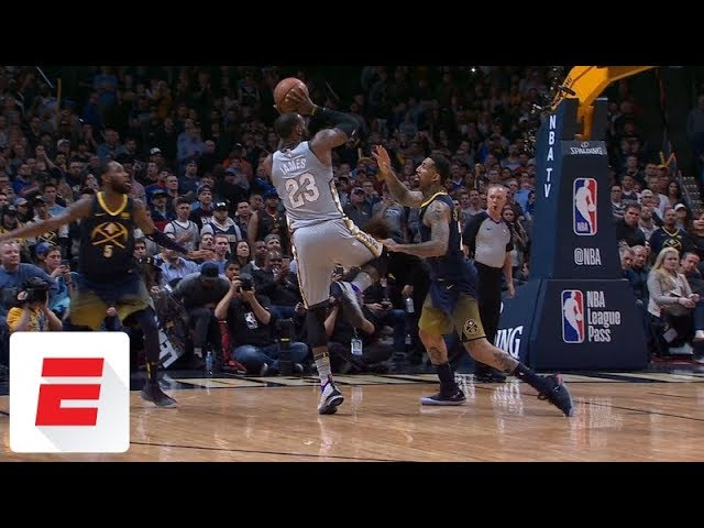 LeBron James absolutely takes over late in fourth with four ridiculous buckets vs. Nuggets | ESPN
