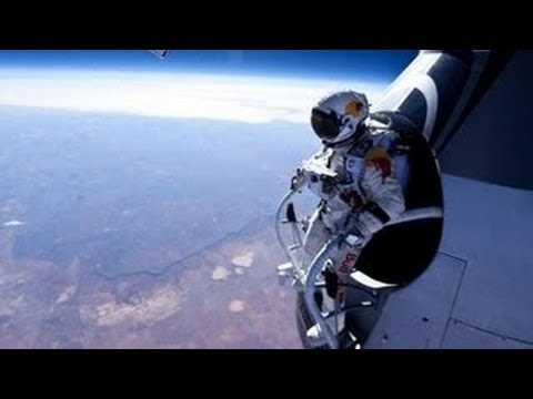 Felix Baumgartner Red Bull Stratos FULL SPACE JUMP VIDEO
