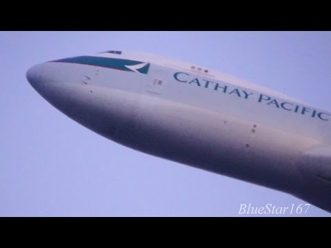 Cathay Pacific Airways Cargo Boeing 747-8F (B-LJK) takeoff from KIX/RJBB (Osaka - Kansai) RWY 06R