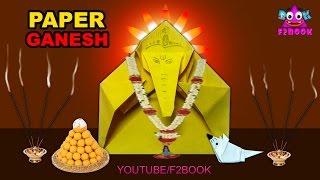 lord Ganesha And Musuka Paper Folding   Easy Origami DIY Craft   God Vinayaka Making Videos 159