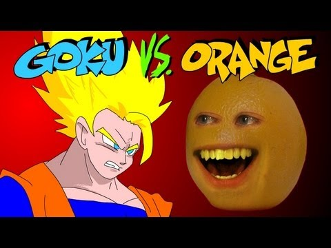 GOKU vs ANNOYING ORANGE - a UCF BONUS ROUND - YouTube
