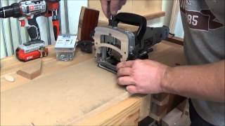 Biscuit Jointer Jig for Mitered Frame