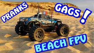 RC CAR BEACH FPV- PRANKS - GAGS - RUNCAM ONBOARD