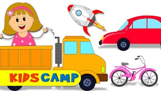 Learn Vehicles With Cute Elly   Car Truck Rocket Bus And More   Play With Elly   Vehicles for Kids