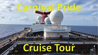 Carnival Pride FULL SHIP TOUR -- Departure from Port of Baltimore