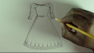 Download video How to draw a wedding dress, narrated
