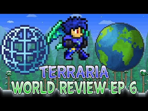 Terraria 1.2.4 World Reviews For Ios/Android Ep 6 Amazing Hacked All Item Map/Buildings