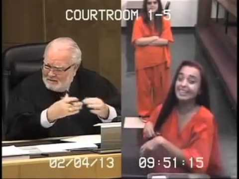 Woman Gives Judge The Finger Gets Jail Time - Penelope Soto Says Fuck You To The Judge!! video