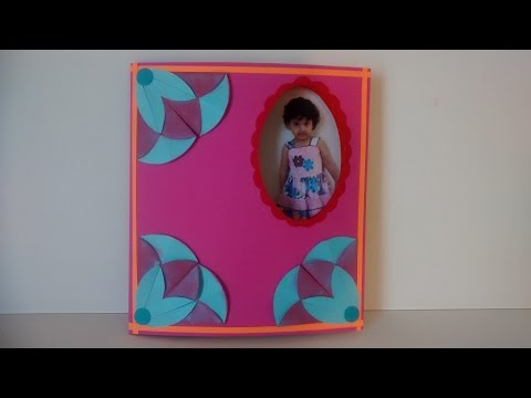 Art and Craft: How to make changing picture card/ Peek a Boo card