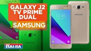 Conheça o Smartphone Galaxy J2 TV Dual Prime Dourado | Casas Bahia