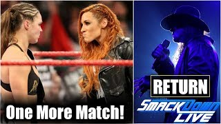 Undertaker 'RETURN' Date Reaveled!🔥Becky Lynch VS Ronda Rousey Match Again! Ronda Rousey Return!