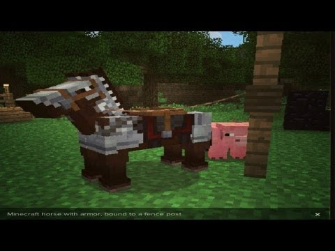 MineCraft 1.6 Snapshot 13w16a Horse Armor Bound To Rope!
