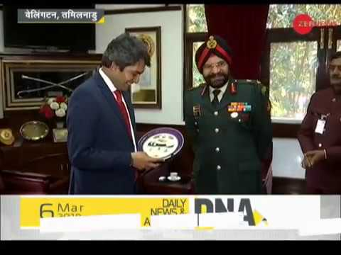 DNA: Sudhir Chaudhary visits Defence Services Staff College in Wellington, Tamil Nadu