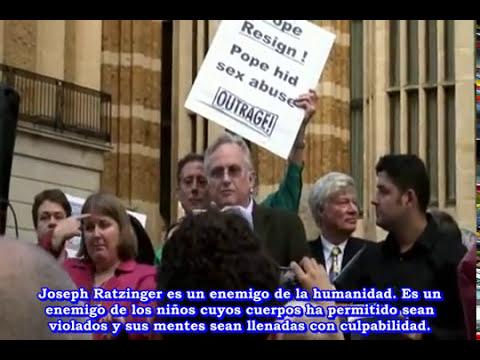 El Papa Enemigo de la Humanidad. Científico Richard Dawkins en visita a Inglaterra Sep del 2010