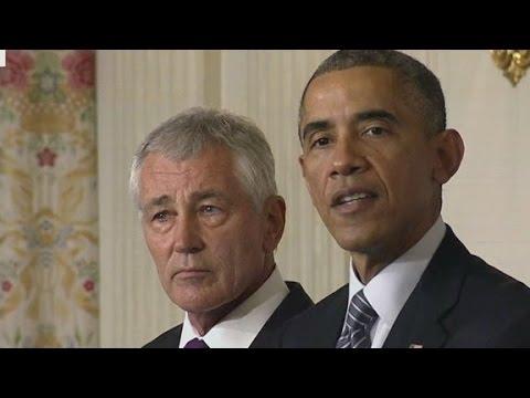 Obama announces Hagel's resignation