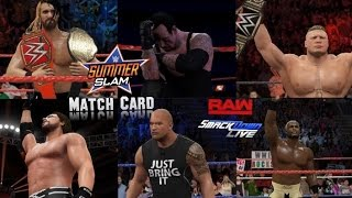 WWE 2K16 Summer Slam Story Mode Match Card