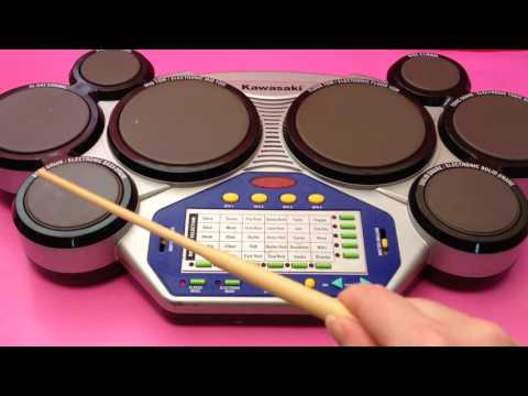 Kawasaki Kids Drum Toy with Classic & Electronic Drum Plus Sound Effects Rhythms Beats Tunes
