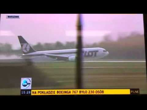LOT Boeing 767 from Newark to Warsaw  Emergency Landing with no landing gear 11.1.11