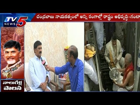 AP Minister Ganta Srinivasa Rao Face To Face | Chandrababu Naidu's 4 Years Of Governance | TV5 News