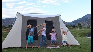 Backyard camping with 4 kids!