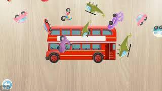 Xe cứu thương , xe buýt , xe đạp , bé học các loại xe