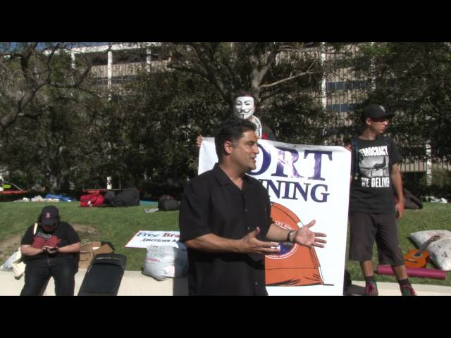 Bradley Manning - American Hero. Cenk Uygur on Fire at OccupyLA.