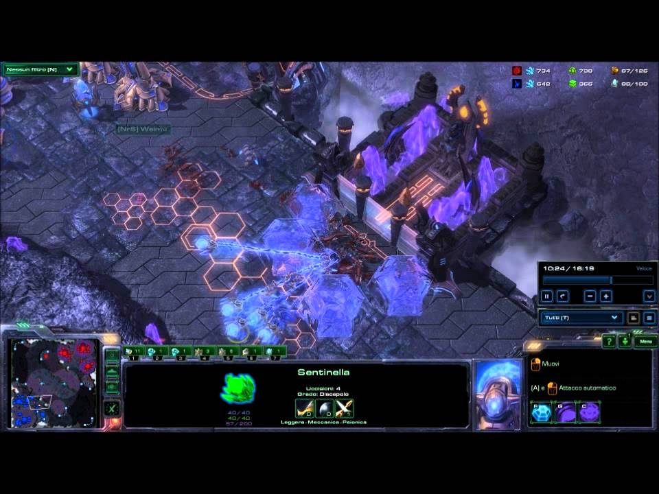 Strategie Starcraft 2 Protoss vs Zerg Tutorial ita - YouTube