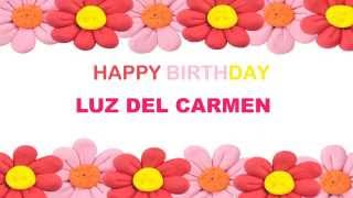 Luz del Carmen   Birthday Postcards & Postales - Happy Birthday