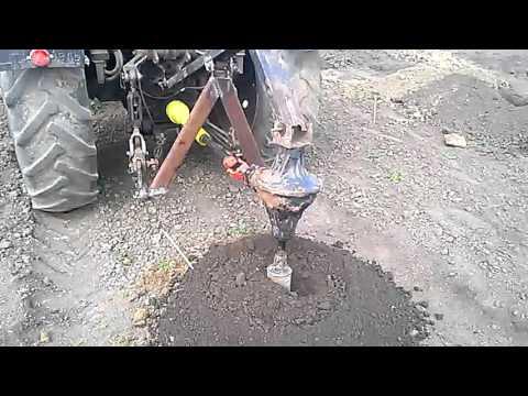 Самодельный ямобур для трактора
