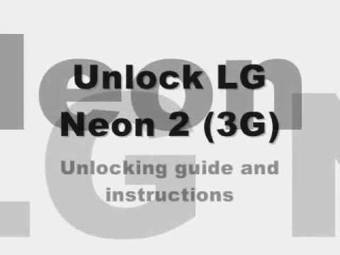 Video: UNLOCK LG NEON 2 - How to Unlock Rogers LG Neon II by Unlock Code