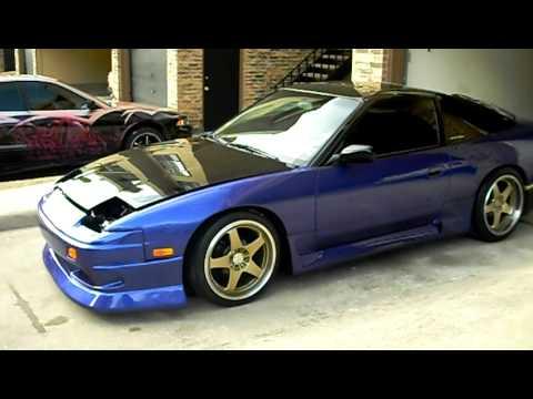 s13 240sx Gold Wheels Blurple Pait Job - YouTube
