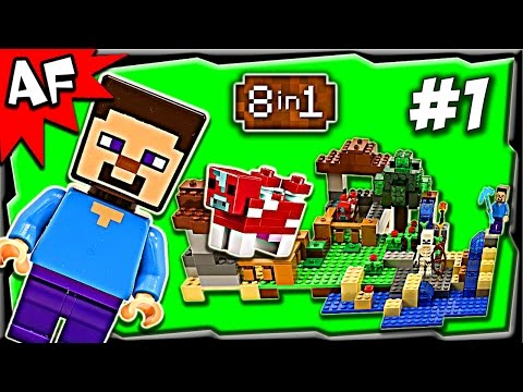 Lego Minecraft 21116 CRAFTING BOX Build #1 Animated Stop Motion Review