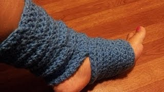 Crochet Tutorial - Easy Crochet Yoga Socks