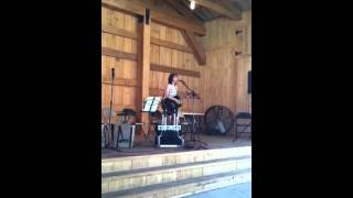 Camille Clifford sings at Lafourche Market