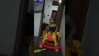 Abhi wearing baby girl dress with full joy