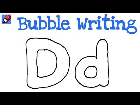 How To Write A Bubble Letter A