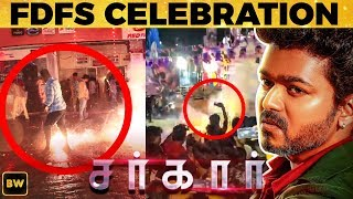 Sarkar FDFS Celebration: Thalapathy Fans go Crazy at Rohini Theatre!